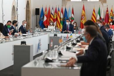 Pedro Sánchez preside la Conferencia de Presidentes en Salamanca.