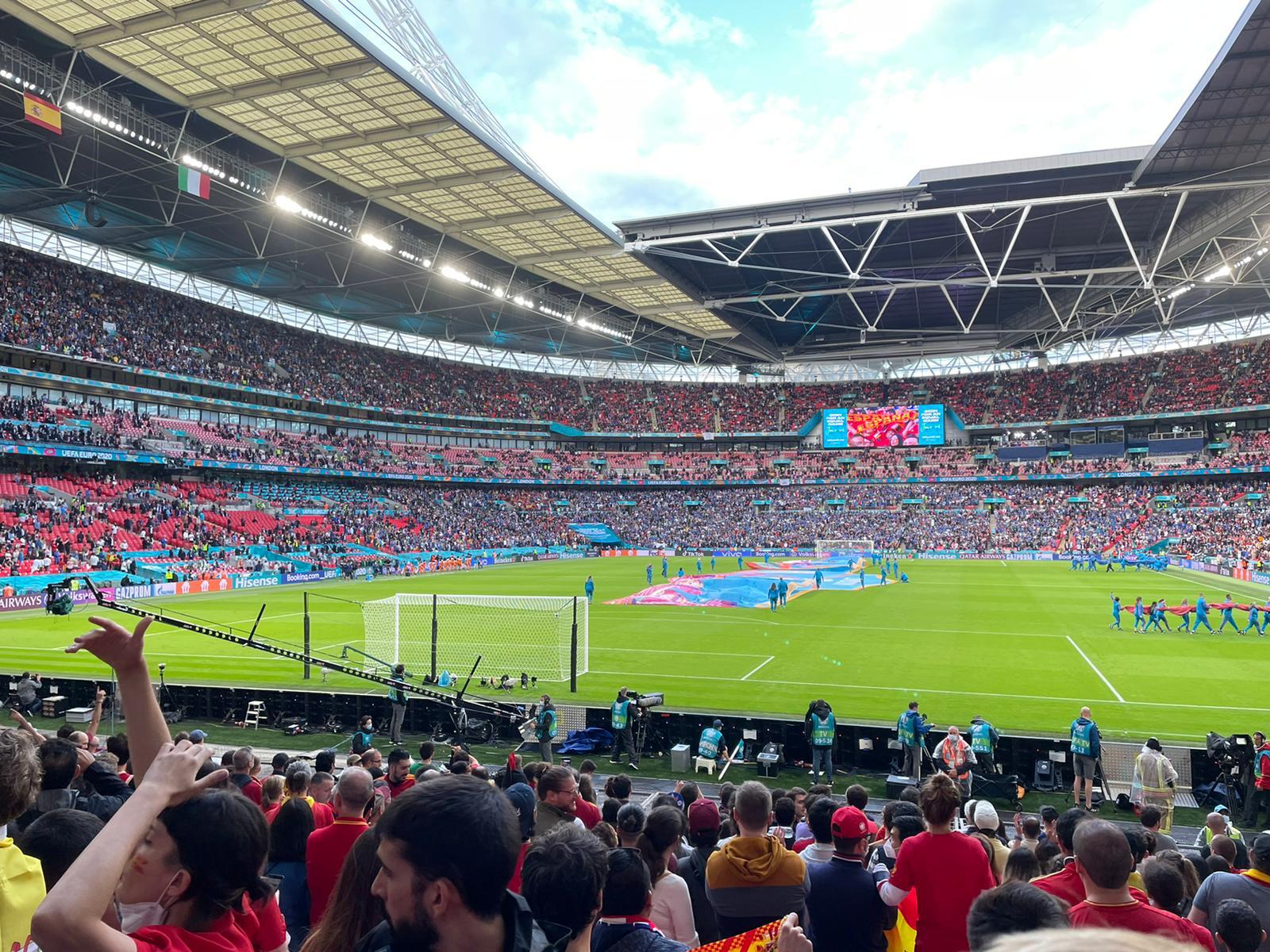 El estadio de Wembley acogió la semifinal entre España e Italia.