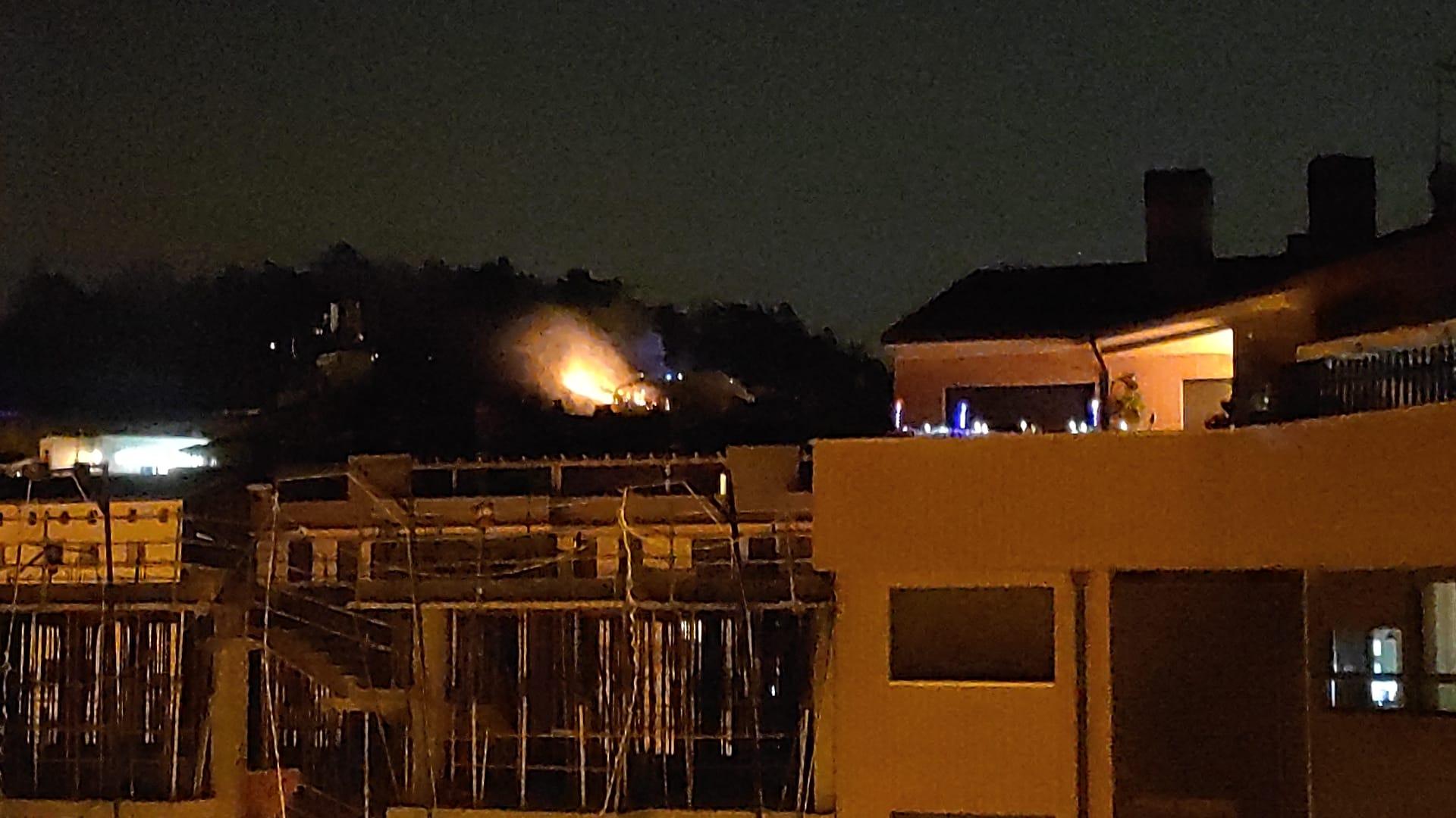 Incendio en el parque del Castillo de Burgos.