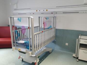Una habitación pediátrica del nuevo hospital de Salamanca.