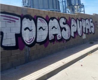 Pintada en Castellanos de Moriscos.