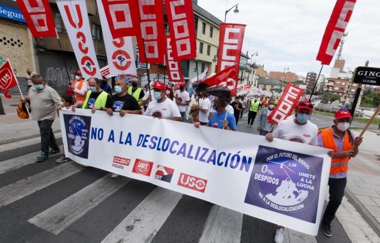 protesta bierzo LM wind power ponferrada despidos deslocalizacion ical