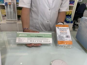 Los test de antígenos que se dispensan en las farmacias.