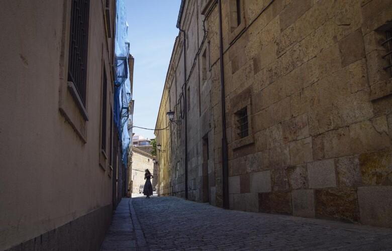 Una de las calles del barrio Antiguo de Salamanca.