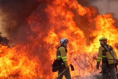 Vicente ICAL . Declarado de nivel 1 un incendio en San Felices de Gallegos (Salamanca) (1)