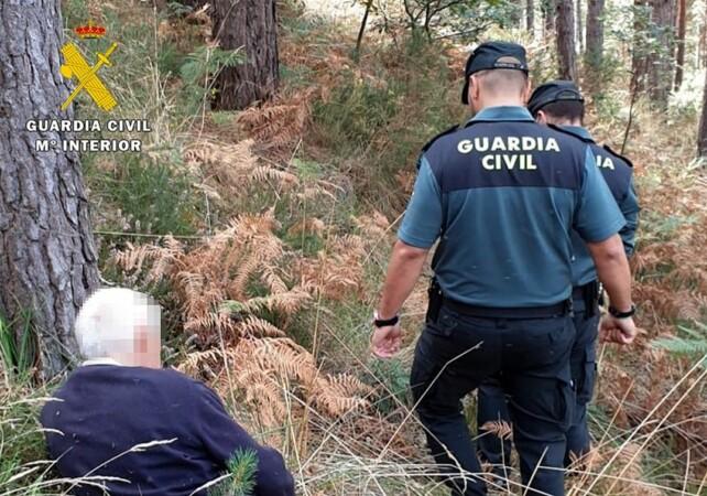 La Guardia Civil encuentra al mayor en un pinar