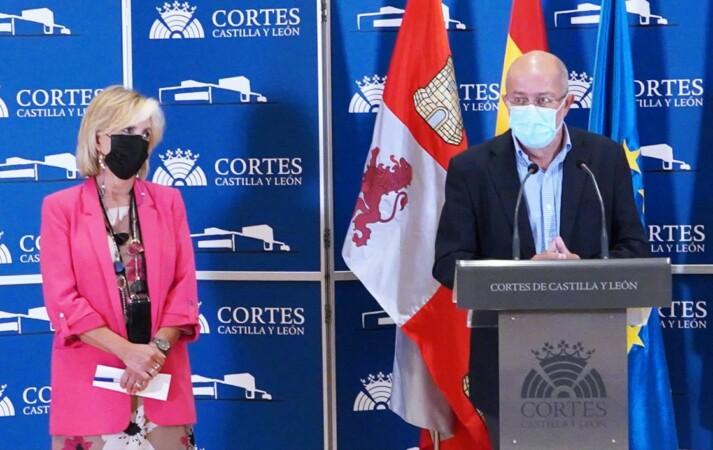 Francisco Igea y Verónica Casado en la rueda de prensa I Ical