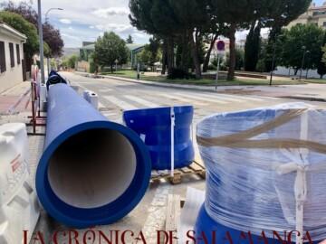 Tuberías en la calle Lugo