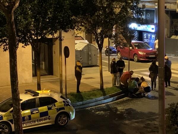 Pelea con heridos en la avenida de Portugal.