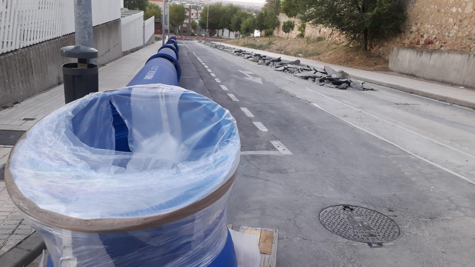 Obras en la calle Lugo.