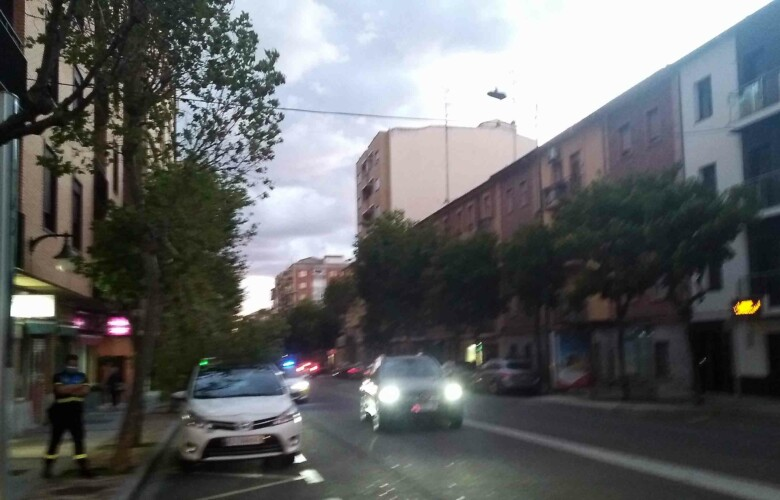 viento troncha rama arbol cae taxi (1)