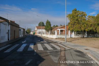 Una de las calles del barrio Puente Ladrillo.