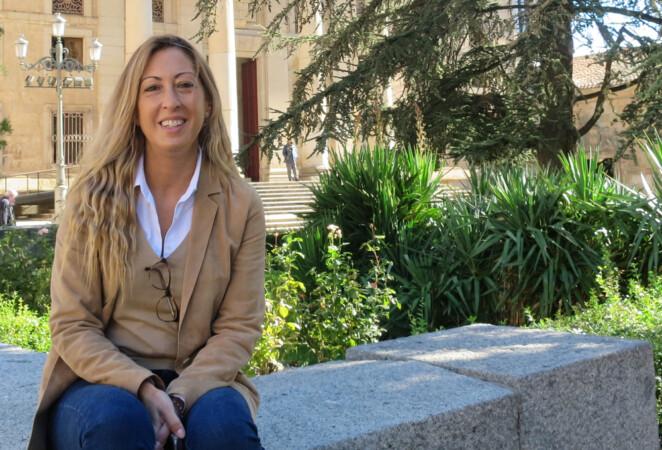 M.J. Asensio, autora salmantina de la saga 'Keswick y el destino de la espada' y 'Keswick y el árbol de la ciencia'.